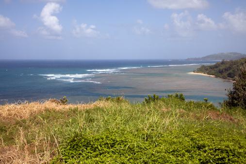 アニニビーチ「穏やかな波と Anini ビーチカウアイ島」:スマホ壁紙(0)