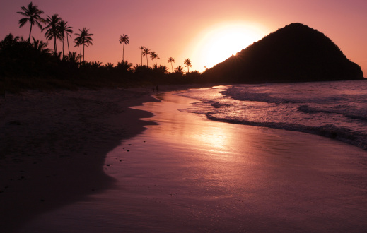 British Virgin Islands「Golden Sunset Caribbean Island Beach」:スマホ壁紙(17)