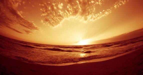 Waimea Bay「Golden Sunset」:スマホ壁紙(16)