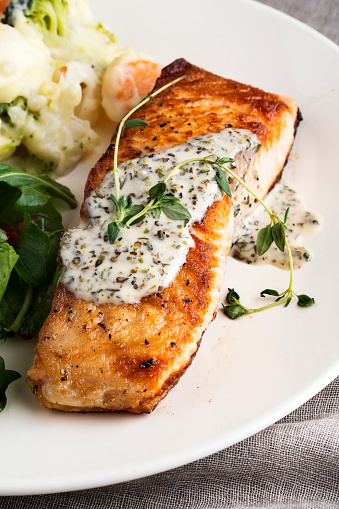 Salmon Steak「Salmon Steak,Fillet of salmon with sauce,」:スマホ壁紙(11)