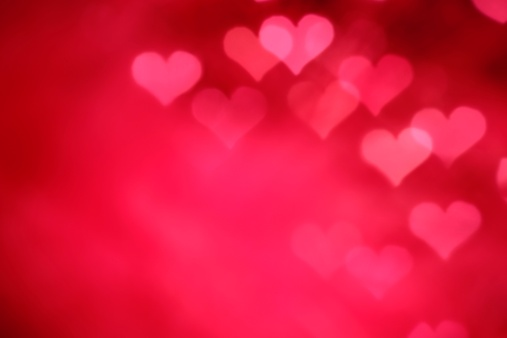 Abstract Backgrounds「Glowing Pink Hearts」:スマホ壁紙(0)