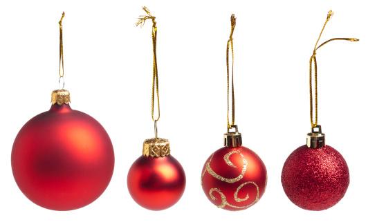 Christmas Ornament「Red Baubles」:スマホ壁紙(10)