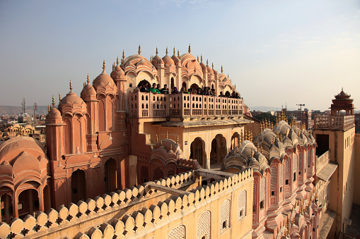Rajasthan「India, Rajasthan, Jaipur, Hawa Mahal, Palace of the Winds,」:スマホ壁紙(12)