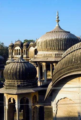 Rajasthan「India, Rajasthan, Shekhawati, Nawalgarh, domes of Havelis」:スマホ壁紙(0)