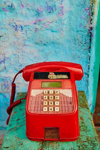Rajasthan「India, Rajasthan, phone in Jodhpur」:スマホ壁紙(4)