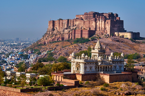 Jodhpur「India, Rajasthan, Jodhpur, the blue city, Mehrangarh Fort」:スマホ壁紙(6)