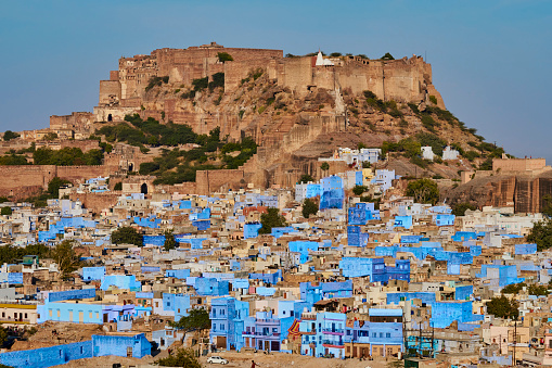 Jodhpur「India, Rajasthan, Jodhpur, the blue city」:スマホ壁紙(3)