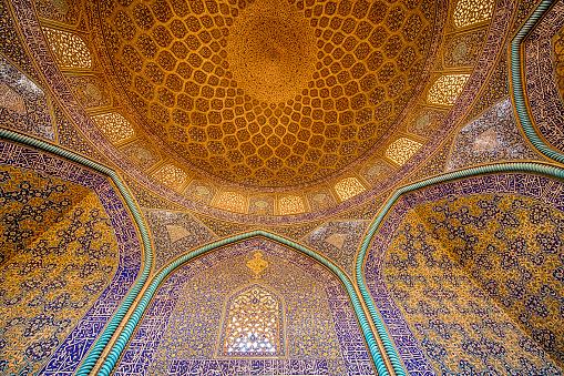 Iran「Mosaic decoration inside of Sheikh Lotfollah Mosque, Isfahan」:スマホ壁紙(7)
