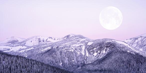 満月「Moonrise」:スマホ壁紙(11)