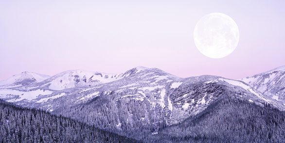 Winter Solstice「Moonrise」:スマホ壁紙(1)