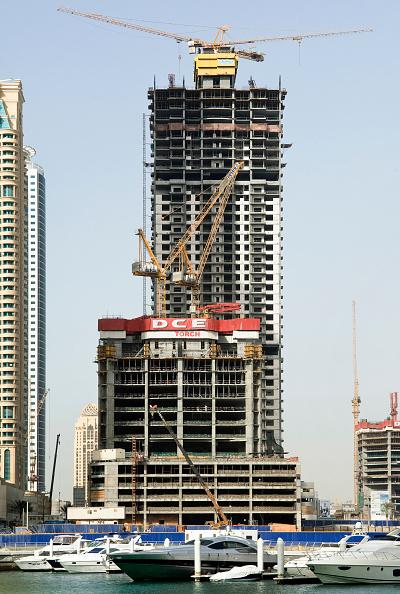 Construction Machinery「Towers under construction, Dubai Marina Dubai」:写真・画像(14)[壁紙.com]