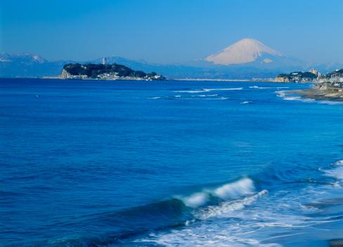 Kamakura City「Enoshima and Mount Fuji, Kamakura, Kanagawa, Japan」:スマホ壁紙(16)
