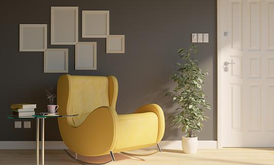 Scandinavia「Reading Corner In Living Room」:スマホ壁紙(3)