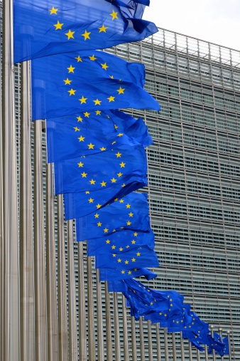 European Union「European Union flags on poles at EU headquarters, Brussels」:スマホ壁紙(15)