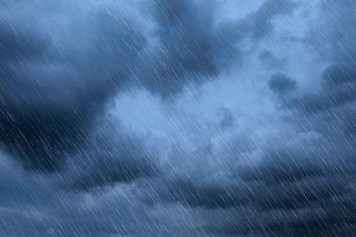 雨「Rain at night」:スマホ壁紙(3)
