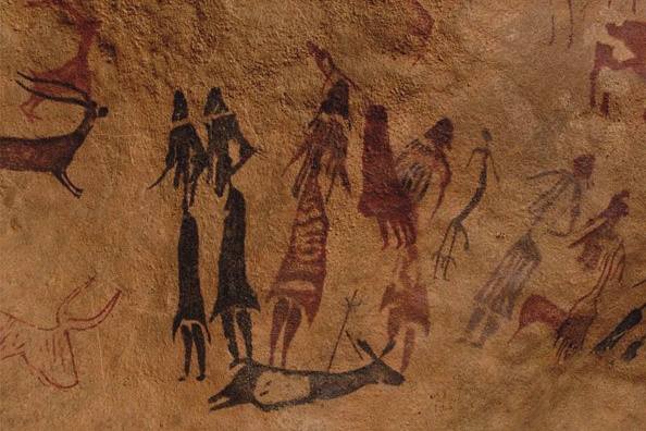 Painted Image「The Dancers Of Cogul. Cave Painting From The Roca De Los Moros (Roca Dels Moros).」:写真・画像(18)[壁紙.com]