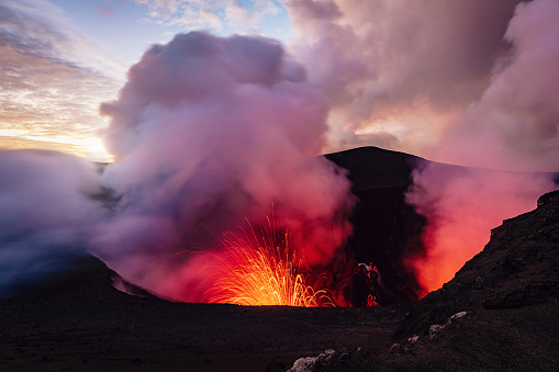 Lava「Mount Yasur Vanuatu Erupting Volcano Tanna Island」:スマホ壁紙(8)