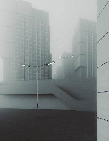 Postmodern「Ugly grey futuristic concrete brutalism」:スマホ壁紙(15)