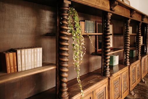 Restoring「Vintage wooden bookshelves」:スマホ壁紙(18)