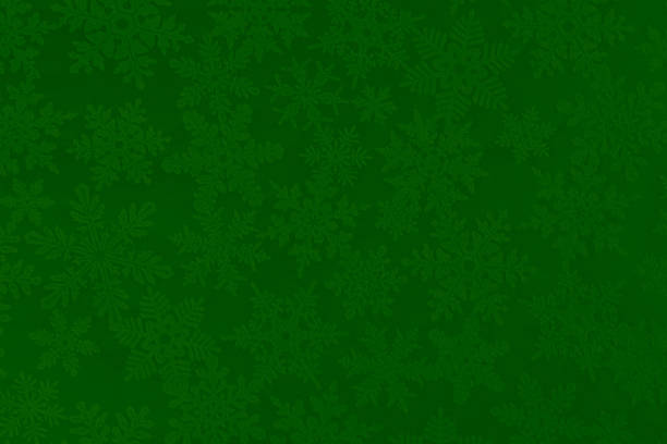 Christmas Paper Texture Background with Green and White Snowflakes:スマホ壁紙(壁紙.com)