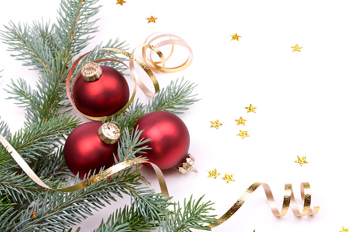 Christmas Decoration「Christmas Pine and Baubles (XXL)」:スマホ壁紙(10)