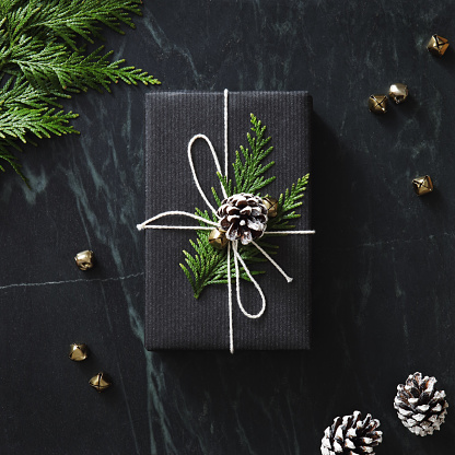 Pine Cone「Christmas present wrapped in black paper」:スマホ壁紙(8)
