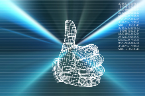 Virtual Reality「Human hand with thumps up (Digitally Generated)」:スマホ壁紙(14)
