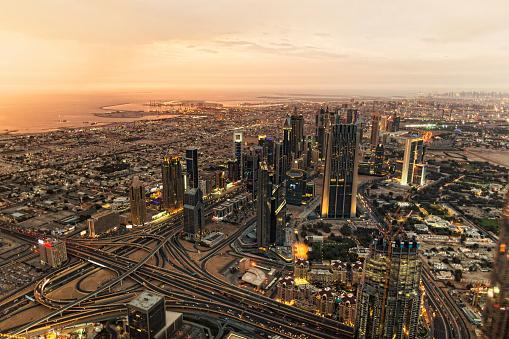 LypseUAE2015「Dubai cityscape at night」:スマホ壁紙(12)