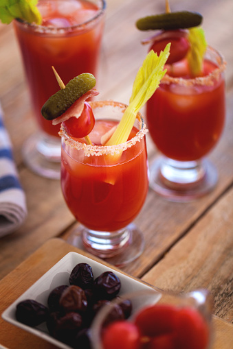 Vegetable Juice「Bloody Mary cocktail in glass, close-up」:スマホ壁紙(1)
