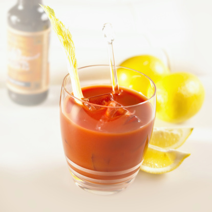 Cocktail「Bloody Mary with celery, ice and fresh lemon」:スマホ壁紙(6)