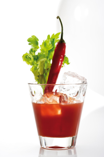 Vegetable Juice「Bloody Mary, garnished with chili pod and celery」:スマホ壁紙(13)