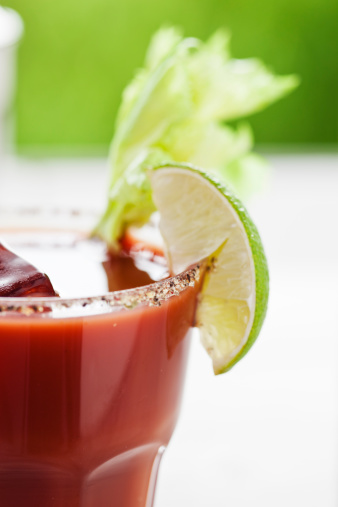 Vegetable Juice「Bloody Mary or Caesar Cocktail  with Lime, Celery  and ice」:スマホ壁紙(8)