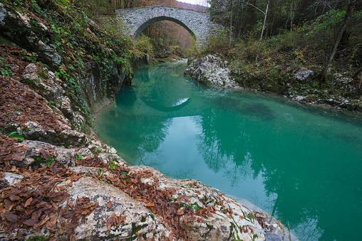 Arch Bridge「Nadiza river and bridge, Slovenia」:スマホ壁紙(17)