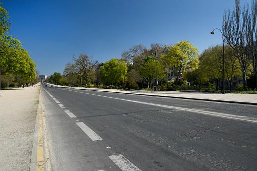 Boulevard「Empty Foch Avenue in Paris, France」:スマホ壁紙(10)