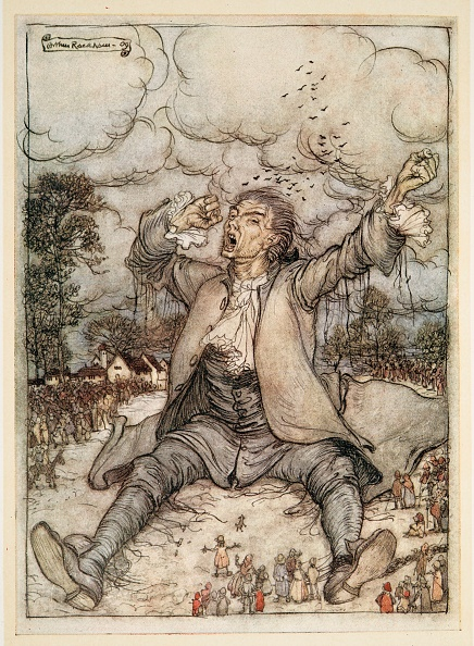 Chromolithograph「Gulliver Released From The Strings」:写真・画像(10)[壁紙.com]