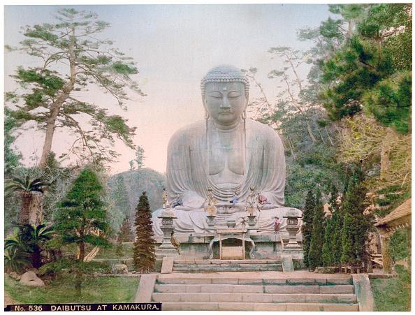 Giant Buddha「Daibutsu at Kamakura, Japan, early 20th century(?).」:写真・画像(15)[壁紙.com]