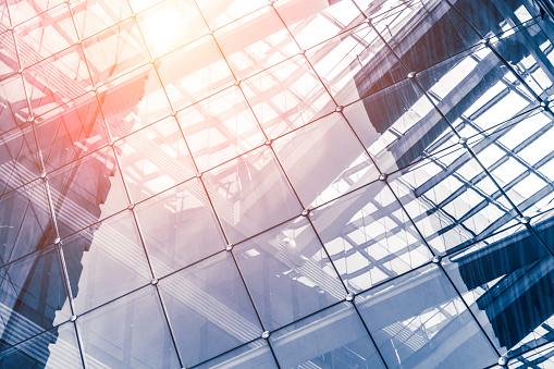 Transparent「Modern glass wall of office building」:スマホ壁紙(15)