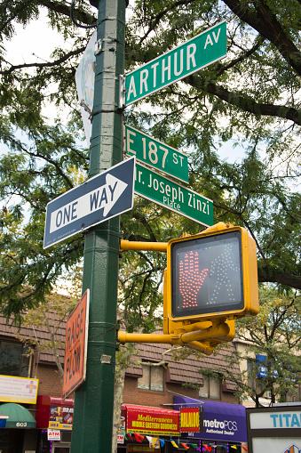 Avenue「Street Sign - Arthur Ave, Bronx」:スマホ壁紙(1)
