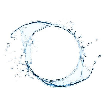 White Background「Freeze frame photo of splashing water swirl」:スマホ壁紙(8)