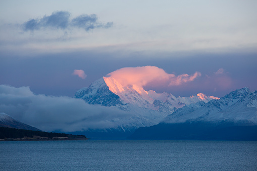 Mt Cook「Lake Pukaki and Mount Cook at sunrise, Twizel」:スマホ壁紙(17)