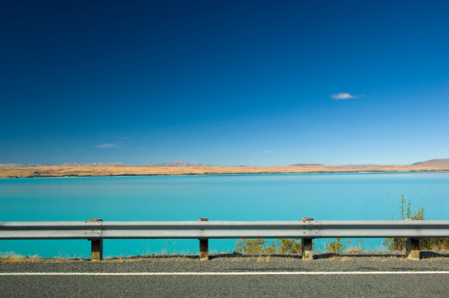 Crash Barrier「lake pukaki new zealand」:スマホ壁紙(1)