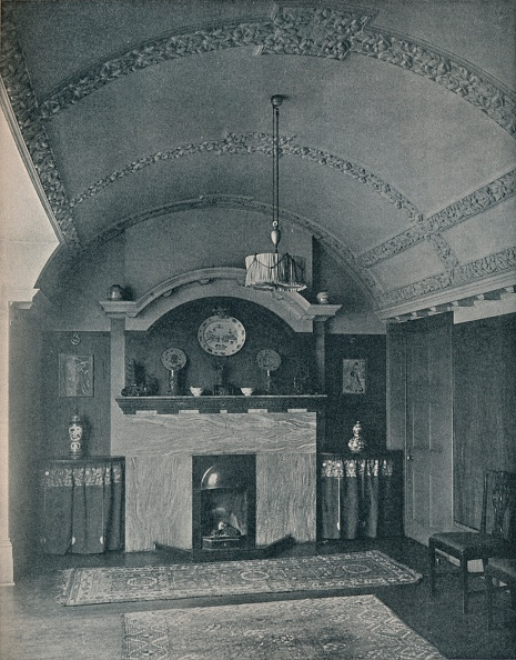 Ceiling「End of a Barrel-Ceilinged Dining Room c 1910」:写真・画像(10)[壁紙.com]