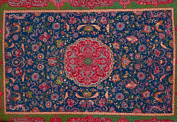 Thread - Sewing Item「Woollen Carpet Enriched With Gold And Silver Thread Persian; Late 16th Century 1903」:写真・画像(4)[壁紙.com]