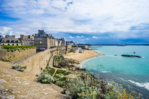 Brittany - France「Plage de Bon Secours Saint-Malo」:スマホ壁紙(4)