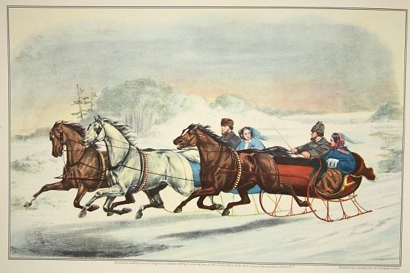 Chromolithograph「The Sleigh Race」:写真・画像(12)[壁紙.com]