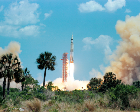 Gulf Coast States「The Apollo 16 space vehicle is launched from Kennedy Space Center.」:スマホ壁紙(6)