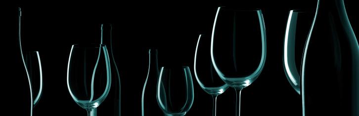 Back Lit「Wine Bottles And Glasses」:スマホ壁紙(15)