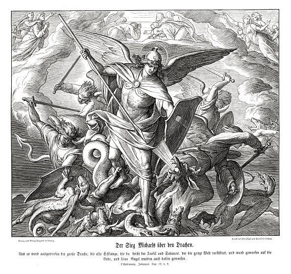 絵「Michael's victory over the dragon」:写真・画像(10)[壁紙.com]