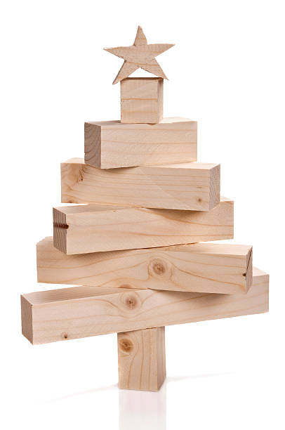 Stacked lumbers in the shape of a christmas tree:スマホ壁紙(壁紙.com)