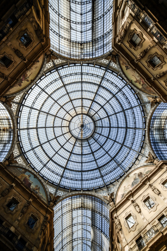Town Square「Galleria Vittorio Emanuele II dome and buildings」:スマホ壁紙(0)